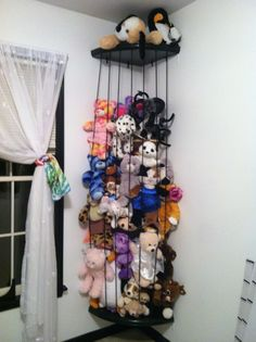 Blog - Animal ZOO This looks like the easiest AND cheapest way to make a stuffed animal zoo. This really looks so much better than an overstuffed toybox.