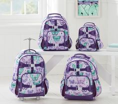 Mackenzie Lavender Pretty Butterfly Backpack | Pottery Barn Kids