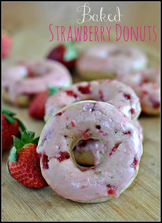 Baked Strawberry Donuts by preventionrd, via Flickr