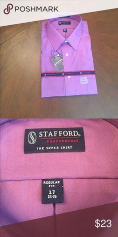 Men's Stafford dress shirt Men's Stafford Dress shirt. Color is called Grape Pop. Size 17. Sleeve 34-35. Brand new. Stafford Other