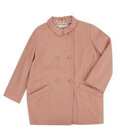 Stella McCartney Kids Age 2 to 12 Pink Olive Wool-Blend Coat   Kids   Liberty.co.uk