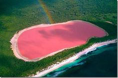 lago rosa arco iris