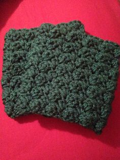 A textured single crochet and double crochet pattern. Boot cuffs.