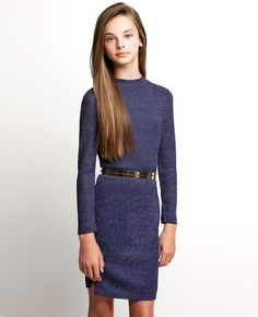 Girl's Inez Lurex Dress - Bardot Junior
