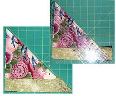 An Attic Windows Quilt Block With Easy Peazy Mitered Seams: Trim the Quilt Block's Mitered Seam