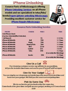 iPhone Unlocking Services Esource parts is the most trusted in Mississauga for unlocking iphones. http://iphoneunlockingsite.ca/
