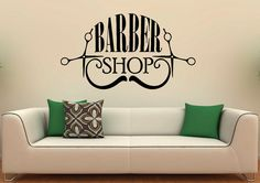 Barbershop Logo Wall Decal Vinyl Stickers Hairdressing Salon Interior Design Art Murals Decor Welcome to Our shop! Vinyl stickers is a newest method to decorate interior or exterior of your home or office. It is easy, affordable, clean and cheaper than anything else! All our decals