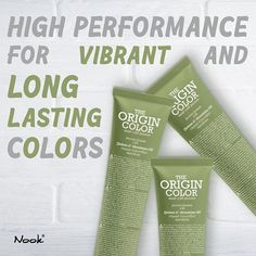 The Origin Color High performance for vibrant and long-lasting colors! Besides being the perfect grey coverage nourishes and strengthens hair fiber while restoring shine elasticity and smoothness of the hair . Grey Hair Coverage, Strong Hair, Hair Health, Haircolor, Nook, Tuesday, Vibrant Colors, Hair Care, Fiber