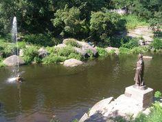 Korosten: Princess Olha monument near the Uzh River. Ukraine. Click on visit.