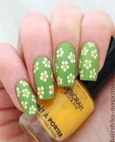 daises nail art creative nail art designs 2013 2014