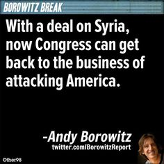 Andy Borowitz: With Syria delayed, Republicans can now get back to attacking America