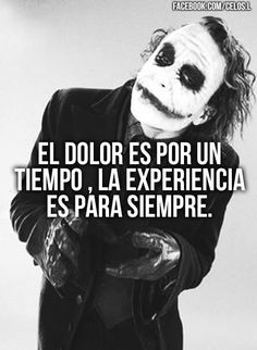 Joker Frases, Joker Quotes, Words Quotes, Wise Words, Me Quotes, Inspirational Phrases, Motivational Phrases, Quotes En Espanol, Thinking Quotes