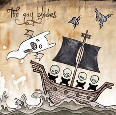 """The Gay Blades : Ghosts vinyl with 7"""" housed on popup gratefold jacket"""
