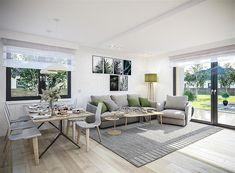 Projekt domu Tracja 3 117,19 m2 - koszt budowy 255 tys. zł - EXTRADOM Outdoor Furniture Sets, Outdoor Decor, House, Home Decor, Little Cottages, Decoration Home, Home, Room Decor, Home Interior Design