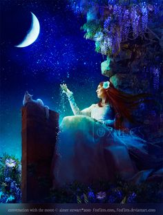 A Conversation With The Moon by Aimee Stewart
