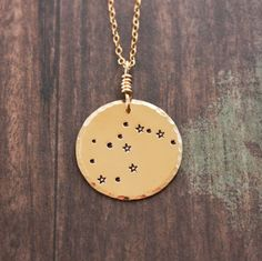 Aquarius necklace, gold necklace, constellation necklace, aquarius constellation,zodiac jewelry,astrology christmas gift necklace