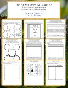 1st Grade Journeys (2014) Lesson 7 Interactive Notebook Pages. These interactive notebook pages are a great supplement to what is already included in the Journey's curriculum. I find that my students get more excited doing these types of activities rather than just workbook pages.