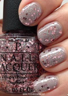 Light gray with pink sparkles!