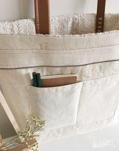 Handmade Shabby Chic Cotton Wedding Bag Lace by ShabbyChicLinenC