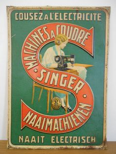 Vintage Advertising Posters, Vintage Advertisements, Tin Signs, Give It To Me, Things To Come, Baseball Cards, Sewing, Curiosity, Aliens