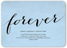 Forever More 5x7 Wedding Card | Wedding Invitations