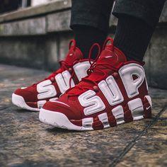 """Supreme x Nike Air More Uptempo """"Suptempo"""" from godlinessonline.com #ShoesForMen"""
