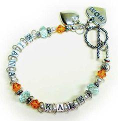 Make a Mothers Day Bracelet, Mommy Bracelet, Grandmother Bracelet
