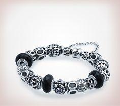 Pandora black and silver