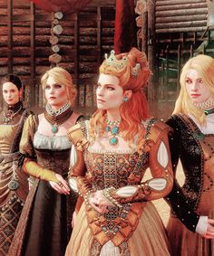 irisvoneverec:  Duchess Anna Henrietta and her entourage.  - Blood and Wine DLC