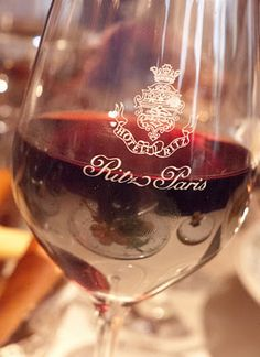 Red Wine - and I'd love it in this glass (at the Ritz of course....)