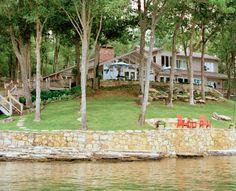 Designer Meg Braff's mid-century modern summer home on Pickwick Lake | Photo by Lisa Romerein for Mississippi Magazine