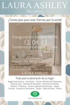 Apertura Laura Ashley Barcelona