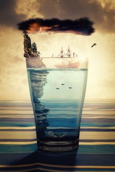 Creativity Design Art - Arte y diseño: Photo Manipulation Photomontage, Fantasy Kunst, Fantasy Art, Creative Photography, Art Photography, Landscape Photography, Digital Photography, Photo D Art, Surrealism Photography