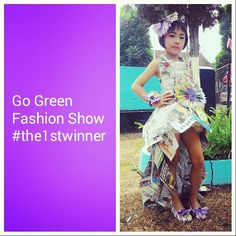 Go green party dress