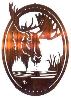"18"" Moose Wall Art www.rusticeditions.com"
