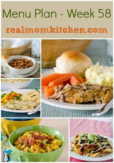 menu plan weekly.  Love weekly menu ideas, this might be a good go to website