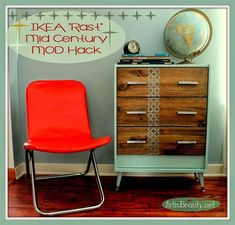 If you LOVE IKEA HACKS.you are going to fall in love with this great collection of 9 IKEA Rast Hacks.each one comes with a DIY! Ikea Furniture, Upcycled Furniture, Furniture Projects, Painted Furniture, Diy Projects, Retro Furniture, Ikea Dresser Hack, Diy Nightstand, Ikea Makeover
