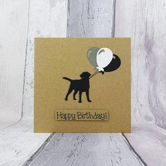 Your place to buy and sell all things handmade Happy Birthday Name, Funny Birthday Cards, Handmade Birthday Cards, Card Birthday, Sell On Etsy, My Etsy Shop, Pun Card, Cat Cards, Black Labrador