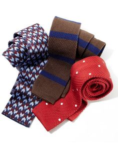Get in the Loop With Knit Ties