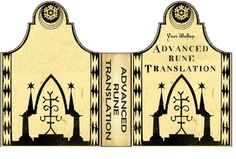 Advanced Rune Translation Book Cover