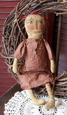 PRIM ANNIE PATTERN Raggedy Doll Primitive Style Early Style Rag Doll Epattern. $6.00, via Etsy.