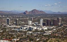 When I'm going downtown, I head for the tall buildings, when I head home, I head for the tall mountains...easy as pie. Phoenix,  Arizona