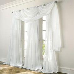 Elegance White Sheer Voile Curtain