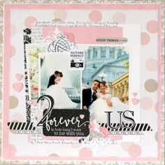 """""""Wedding Bliss"""" collection layout by Anya Lunchenko for #EchoParkPaper"""