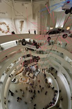 """Cai Guo-Qiang  """"I Want to Believe""""  (Related Site: http://www.guggenheim.org/exhibitions/exhibition_pages/cai.html)  Solomon R. Guggenheim Museum, New York, USA  2008"""