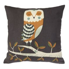 Wildlife Cushion - Owl by Tom Frost/Magpie Gorgeous, fun and quirky gifts for you and your home Hunkydory Home Shabby Chic Cushions, Vintage Cushions, Alice In Wonderland Room, Owl Cushion, Handmade Lampshades, Flamingo Gifts, Luxury Cushions, Quirky Gifts, Owls
