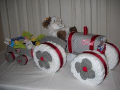 Ford Tractor and Wagon Diaper Cake by ShelvasDiaperCakes on Etsy, $75.00