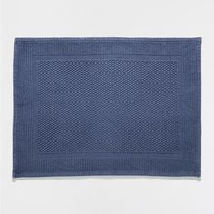 BASIC BLUE KNOTTED BATH MAT