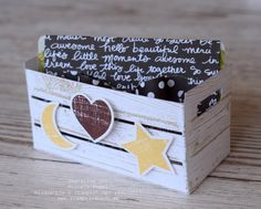 Wooden Crates Gifts, Wood Crates, Wine Racks, Paper Craft Making, Wooden Words, Berry Baskets, Wood Texture, Big Shot, Stamping Up