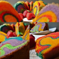 Psychedelic cake. Woahhh.